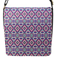 Colorful Folk Pattern Flap Messenger Bag (s)