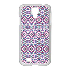 Colorful Folk Pattern Samsung Galaxy S4 I9500/ I9505 Case (white)