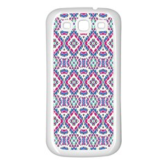 Colorful Folk Pattern Samsung Galaxy S3 Back Case (white)