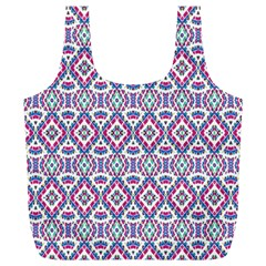 Colorful Folk Pattern Full Print Recycle Bags (l)