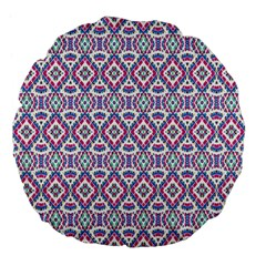 Colorful Folk Pattern Large 18  Premium Flano Round Cushions by dflcprints