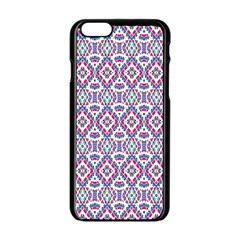 Colorful Folk Pattern Apple Iphone 6/6s Black Enamel Case
