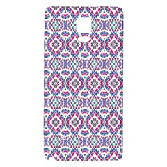 Colorful Folk Pattern Galaxy Note 4 Back Case by dflcprints