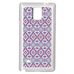 Colorful Folk Pattern Samsung Galaxy Note 4 Case (white)