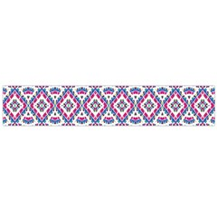 Colorful Folk Pattern Large Flano Scarf