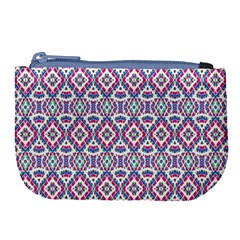 Colorful Folk Pattern Large Coin Purse