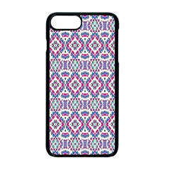 Colorful Folk Pattern Apple Iphone 7 Plus Seamless Case (black)