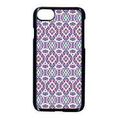 Colorful Folk Pattern Apple Iphone 7 Seamless Case (black)