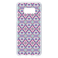 Colorful Folk Pattern Samsung Galaxy S8 Plus White Seamless Case