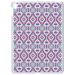 Colorful Folk Pattern Apple Ipad Pro 9 7   White Seamless Case