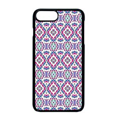 Colorful Folk Pattern Apple Iphone 8 Plus Seamless Case (black)