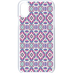 Colorful Folk Pattern Apple Iphone X Seamless Case (white)