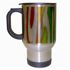 Genius Funny Typography Bright Rainbow Colors Travel Mug (silver Gray) by yoursparklingshop