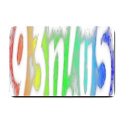 Genius Funny Typography Bright Rainbow Colors Small Doormat