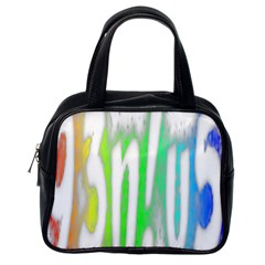Genius Funny Typography Bright Rainbow Colors Classic Handbags (one Side)