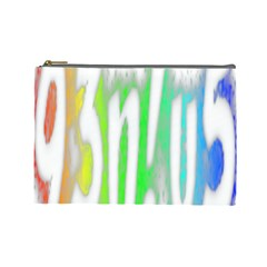 Genius Funny Typography Bright Rainbow Colors Cosmetic Bag (large)