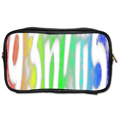 Genius Funny Typography Bright Rainbow Colors Toiletries Bags by yoursparklingshop