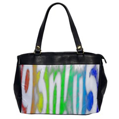 Genius Funny Typography Bright Rainbow Colors Office Handbags by yoursparklingshop