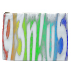 Genius Funny Typography Bright Rainbow Colors Cosmetic Bag (xxl)