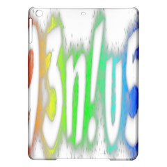 Genius Funny Typography Bright Rainbow Colors Ipad Air Hardshell Cases