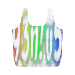 Genius Funny Typography Bright Rainbow Colors Full Print Recycle Bags (m)