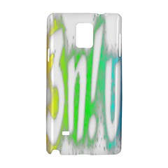 Genius Funny Typography Bright Rainbow Colors Samsung Galaxy Note 4 Hardshell Case by yoursparklingshop