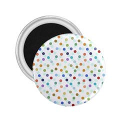 Dotted Pattern Background Brown 2 25  Magnets