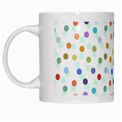 Dotted Pattern Background Brown White Mugs