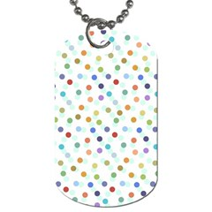 Dotted Pattern Background Brown Dog Tag (one Side)