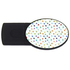 Dotted Pattern Background Brown Usb Flash Drive Oval (2 Gb)