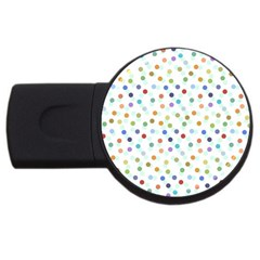 Dotted Pattern Background Brown Usb Flash Drive Round (4 Gb)