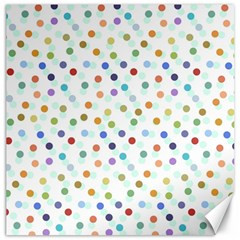 Dotted Pattern Background Brown Canvas 16  X 16