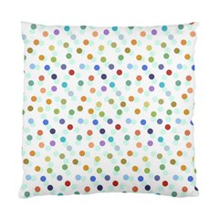 Dotted Pattern Background Brown Standard Cushion Case (two Sides)