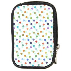 Dotted Pattern Background Brown Compact Camera Cases