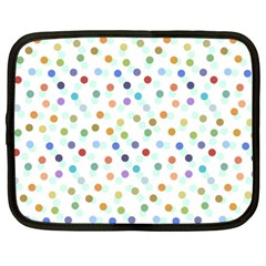 Dotted Pattern Background Brown Netbook Case (xl)