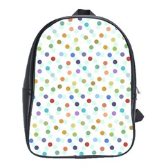 Dotted Pattern Background Brown School Bag (large)