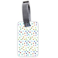 Dotted Pattern Background Brown Luggage Tags (two Sides)