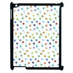 Dotted Pattern Background Brown Apple Ipad 2 Case (black)