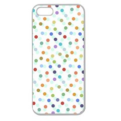 Dotted Pattern Background Brown Apple Seamless Iphone 5 Case (clear)