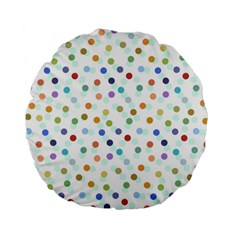 Dotted Pattern Background Brown Standard 15  Premium Round Cushions