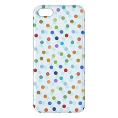 Dotted Pattern Background Brown Apple Iphone 5 Premium Hardshell Case