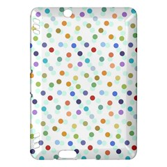 Dotted Pattern Background Brown Kindle Fire Hdx Hardshell Case