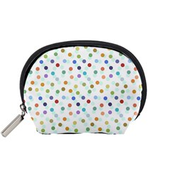 Dotted Pattern Background Brown Accessory Pouches (small)