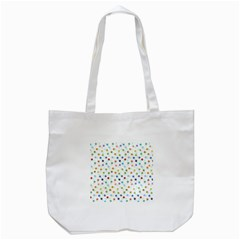 Dotted Pattern Background Brown Tote Bag (white)