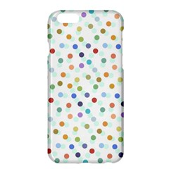 Dotted Pattern Background Brown Apple Iphone 6 Plus/6s Plus Hardshell Case