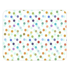 Dotted Pattern Background Brown Double Sided Flano Blanket (large)