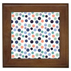 Dotted Pattern Background Blue Framed Tiles