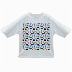 Dotted Pattern Background Blue Infant/toddler T Shirts