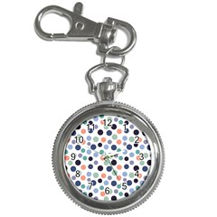 Dotted Pattern Background Blue Key Chain Watches