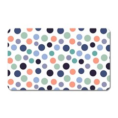Dotted Pattern Background Blue Magnet (rectangular)